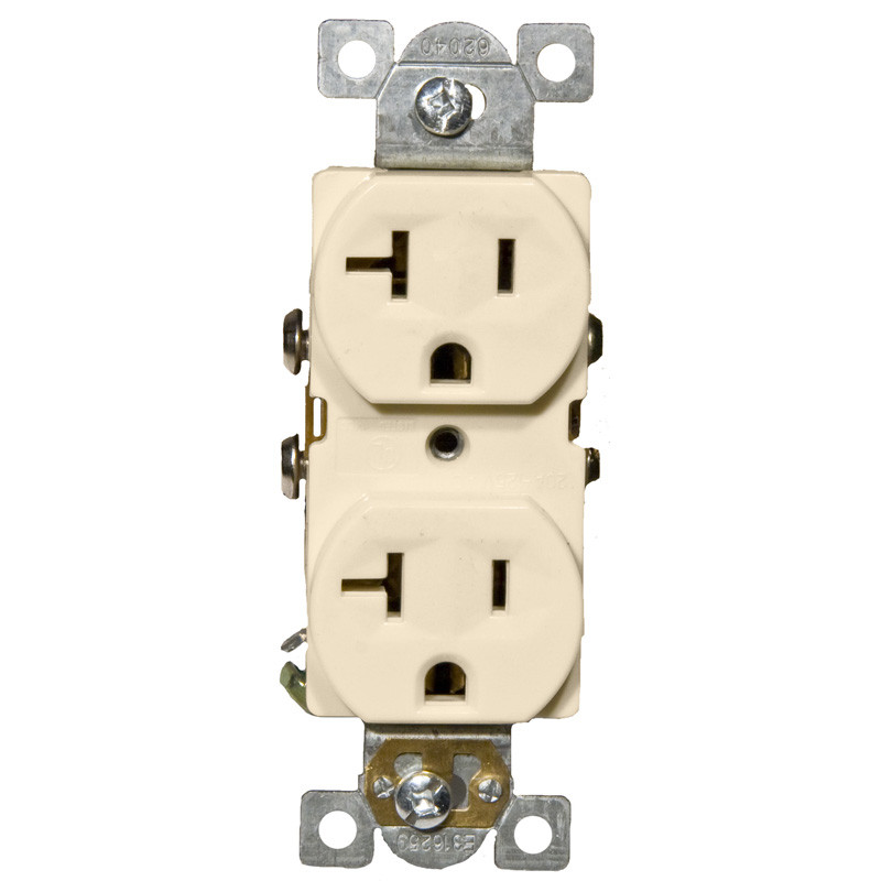 Commercial Duplex Receptacle 20A 125V Almond