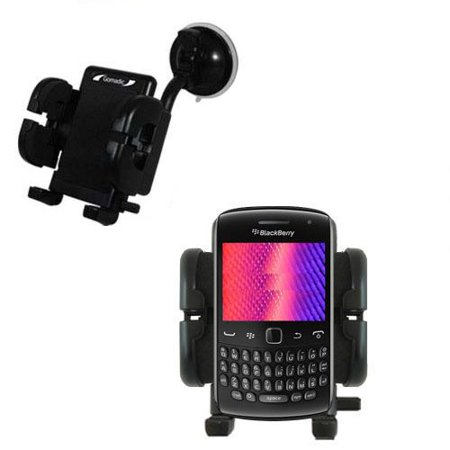 Blackberry Curve Cradle (Gomadic Brand Flexible Car Auto Windshield Holder Mount designed for the Blackberry Curve 9350 - Gooseneck Suction Cup Style)