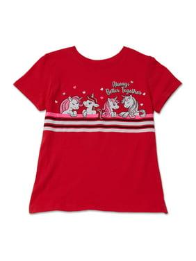 Valentine's Day Short Sleeve Graphic Tee (Little Girls & Big Girls)
