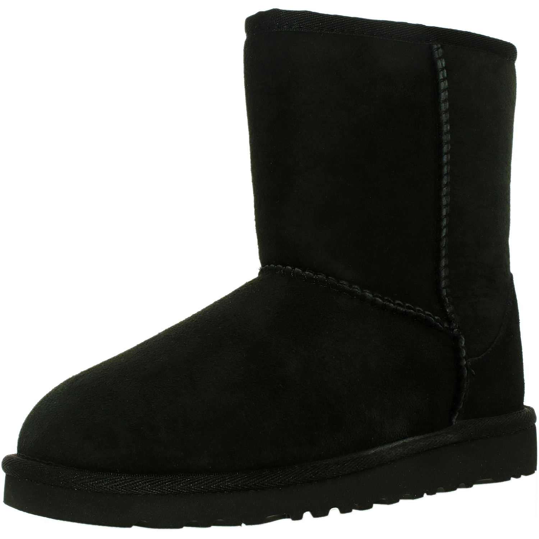 Ugg Girl's Classic K Black Mid-Calf Wool Boot - 4M