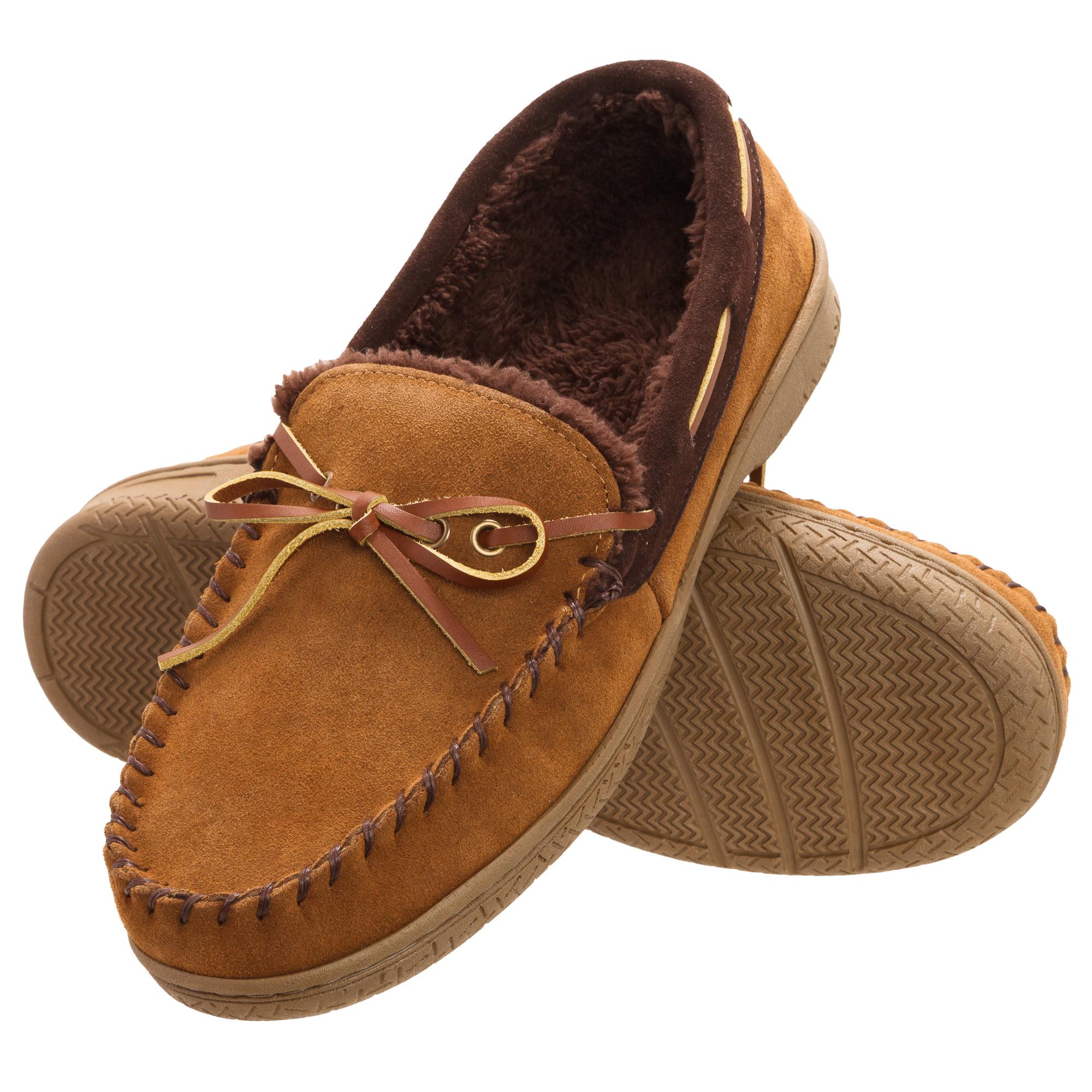 Outdoor Brown Coffee Pick Size New Dearfoams Men/'s Memory Foam Slippers Indoor