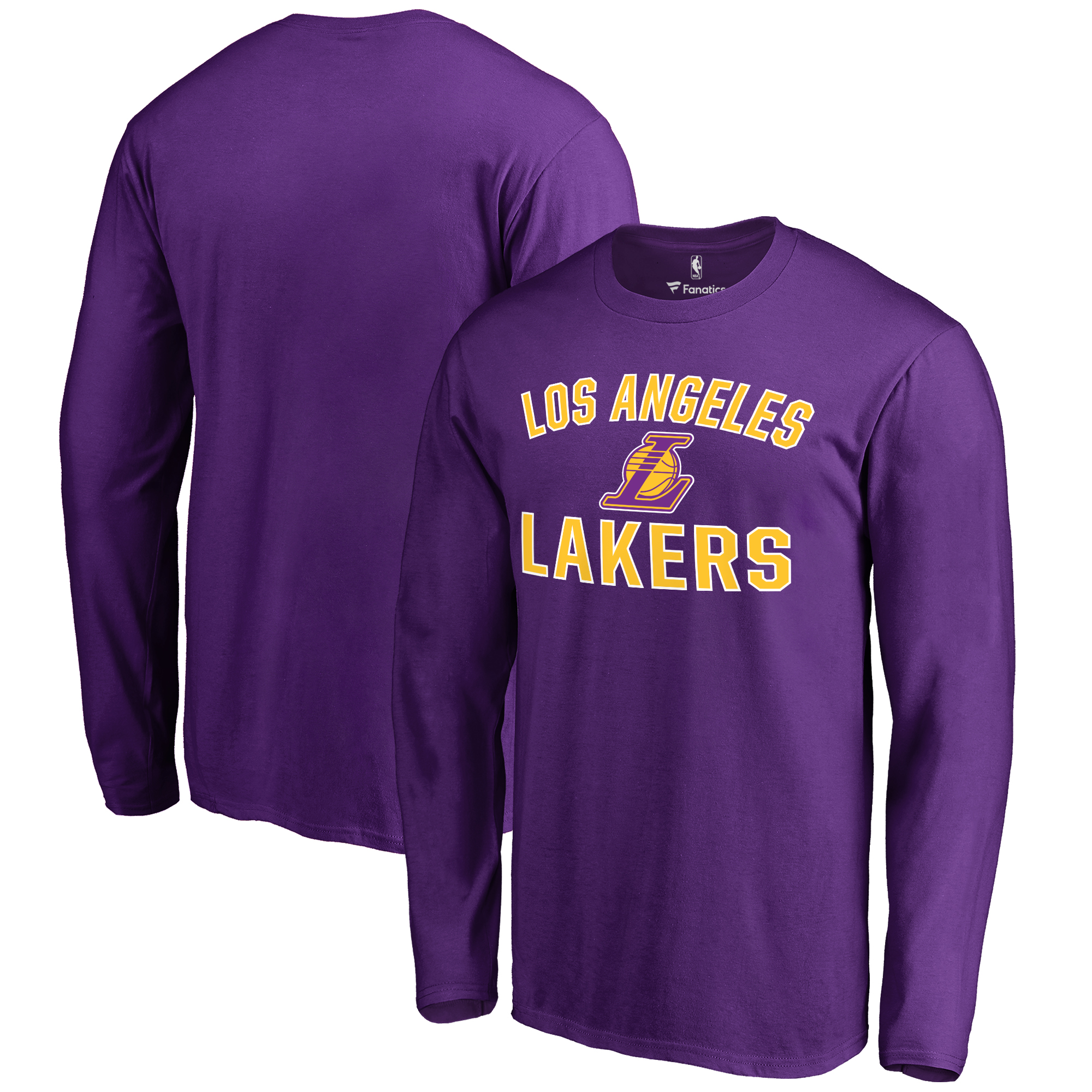 Los Angeles Lakers Victory Arch Long Sleeve T-Shirt - Purple