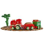 Lanhui Toy Train Set with Lights and Sounds Christmas Train Set Railway Tracks