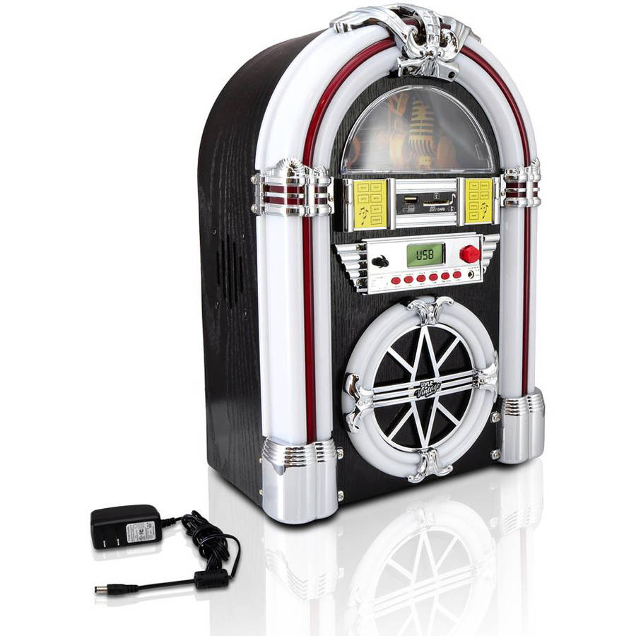 Pyle-Home Bluetooth Jukebox MP3 Speaker System, AM/FM Radio, USB/SD Readers, Aux Input
