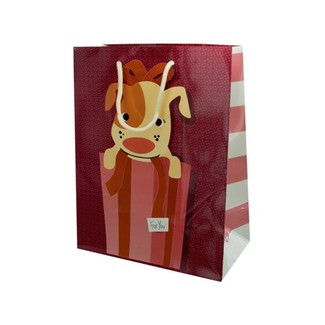 12. 5x9. 5 gift bag puppy - Case of 20