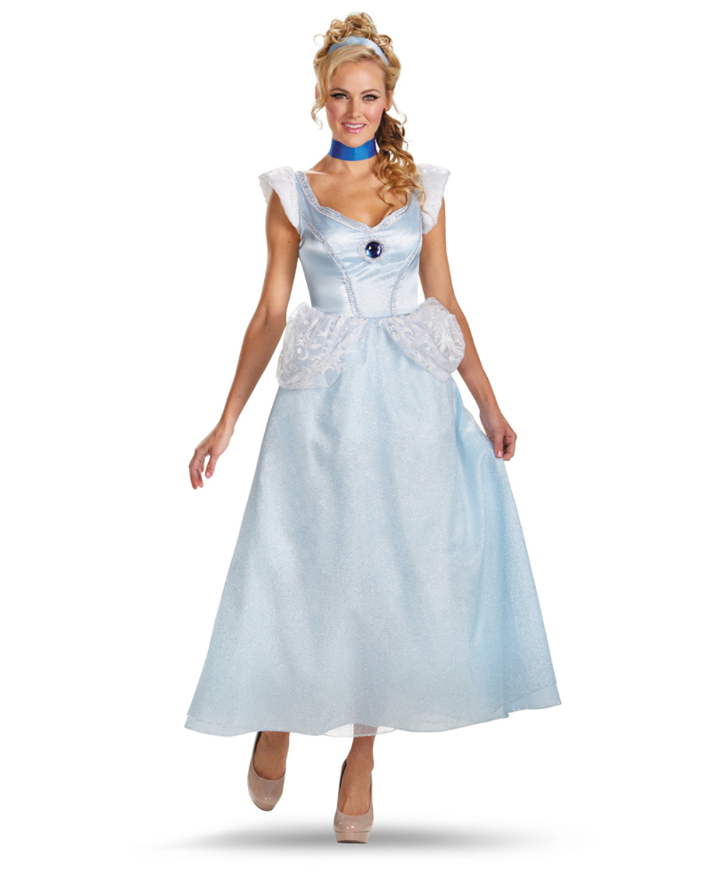 disney princess cinderella deluxe adult halloween costume - walmart