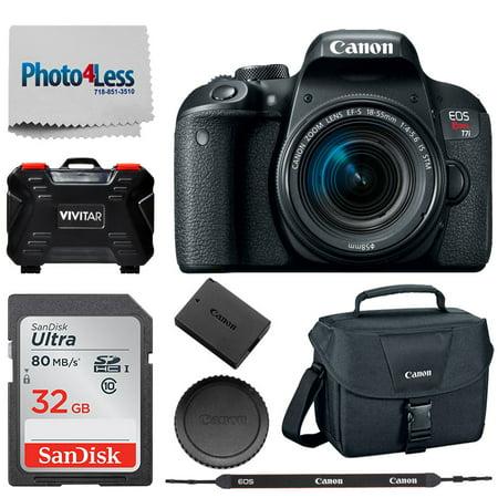 Canon EOS Rebel T7i Digital SLR Camera w 18-55mm IS STM +Accessory Kit