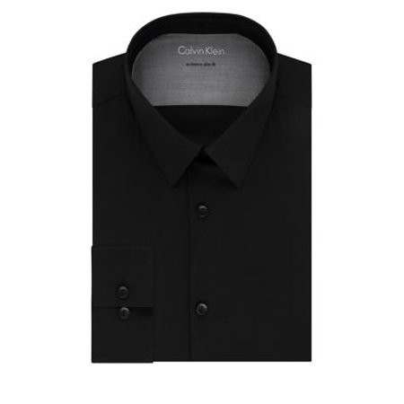 Extra-Slim Fit Solid Dress Shirt (Calvin Klein Mens Dress Shirt Xxl)