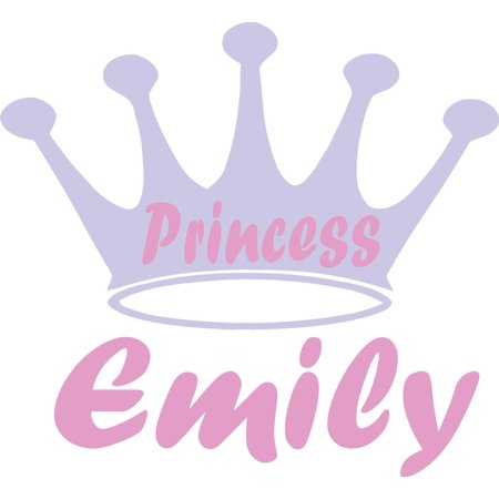 Personalized Name Vinyl Decal Sticker Custom Initial Wall Art Personalization Decor Princess Crown Girls Bedroom Baby Nursery Room 16 Inches X 16 Inches - Crown Decor