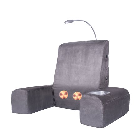 Motor Heated Massage Mat - Carepeutic Back Rest Bed Lounger with Heated Shiatsu Massage