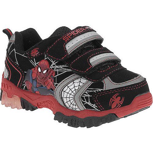 Marvel Toddler Boys' Spiderman Light-Up Fastener Sneakers