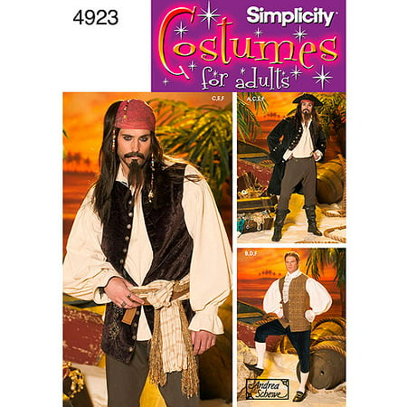 Simplicity Men's Size L-XL Costumes Pattern, 1 Each