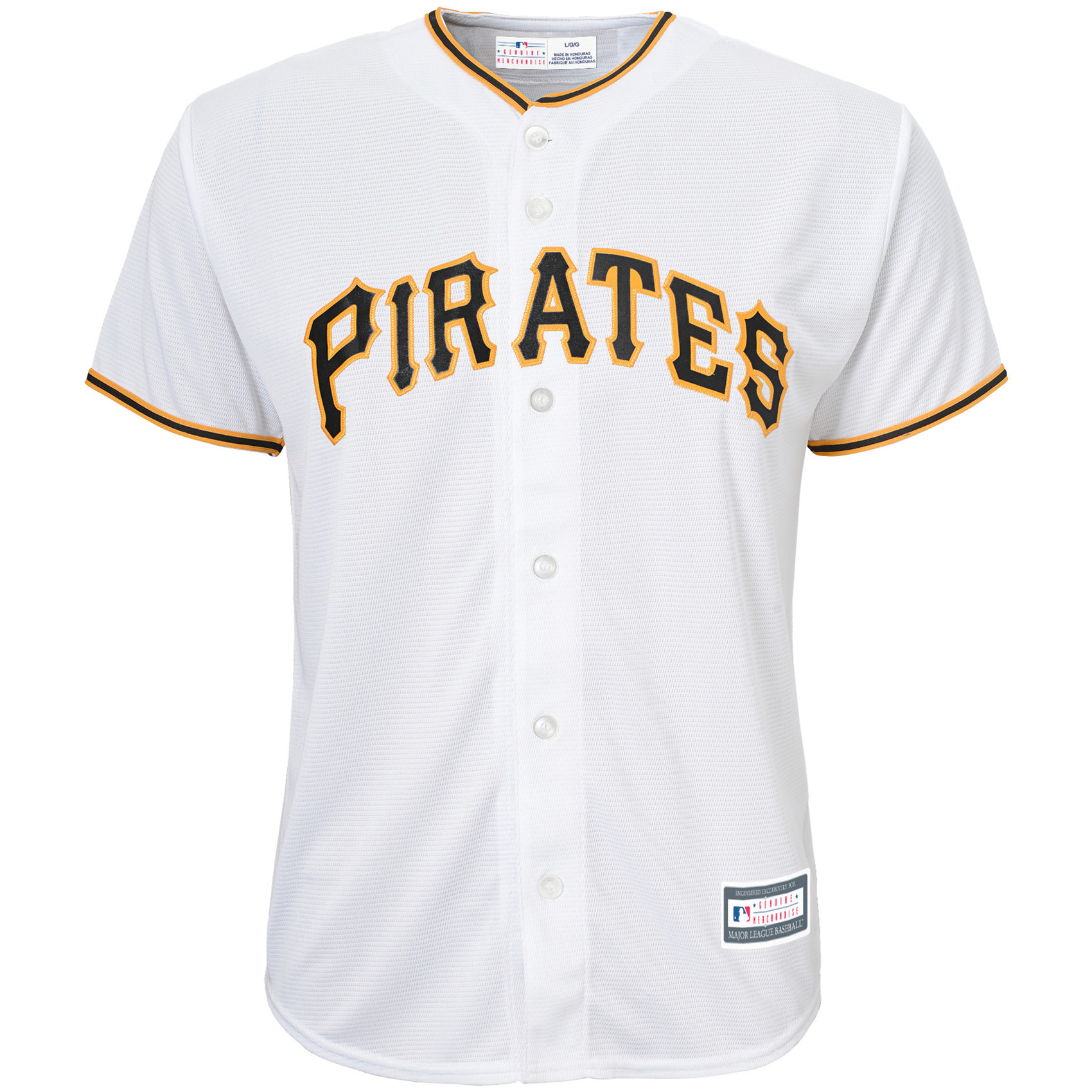 Pittsburgh Pirates Youth Replica Blank Team Jersey - White