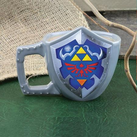 Nintendo The Legend of Zelda Link's Shield Shaped Coffee Mug ()