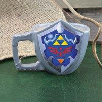Nintendo The Legend of Zelda Link's Shield Shaped Coffee Mug