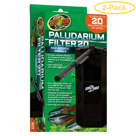 20 Zoo - Zoo Med Paludarium Filter 20 Gallons - Pack of 2