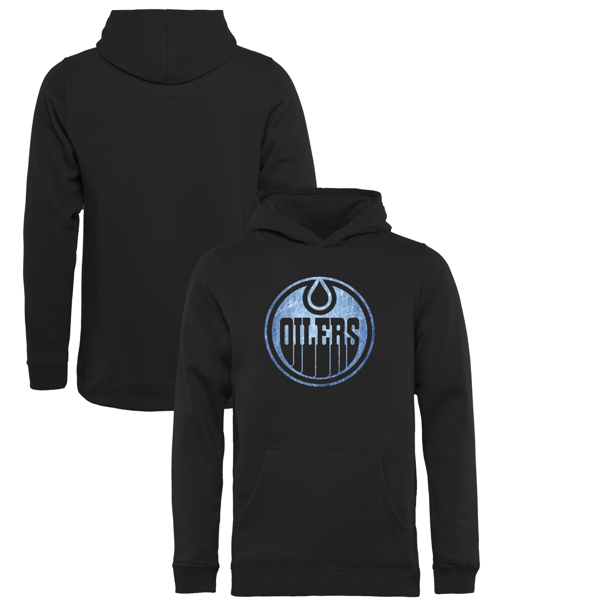 Edmonton Oilers Youth Pond Hockey Pullover Hoodie Black by Football Fanatics/Ruppshirts
