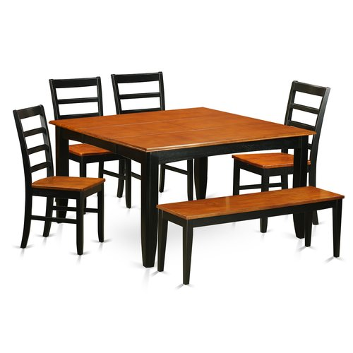 August Grove Pilning 6 Piece Extendable Solid Wood Dining Set