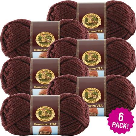 Napa Valley Pinot - Lion Brand Hometown USA Yarn - Napa Valley Pinot, Mulitpack of 6