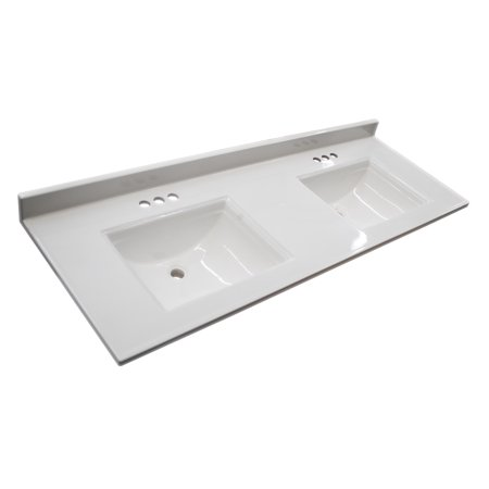 Design House 557678 Camilla Double Vanity Top 61 Solid White