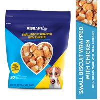 Vibrant Life Small Biscuit Wrapped with Chicken Dog Treats, 32 oz