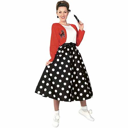 Polka Dot Rocker Adult Halloween Costume