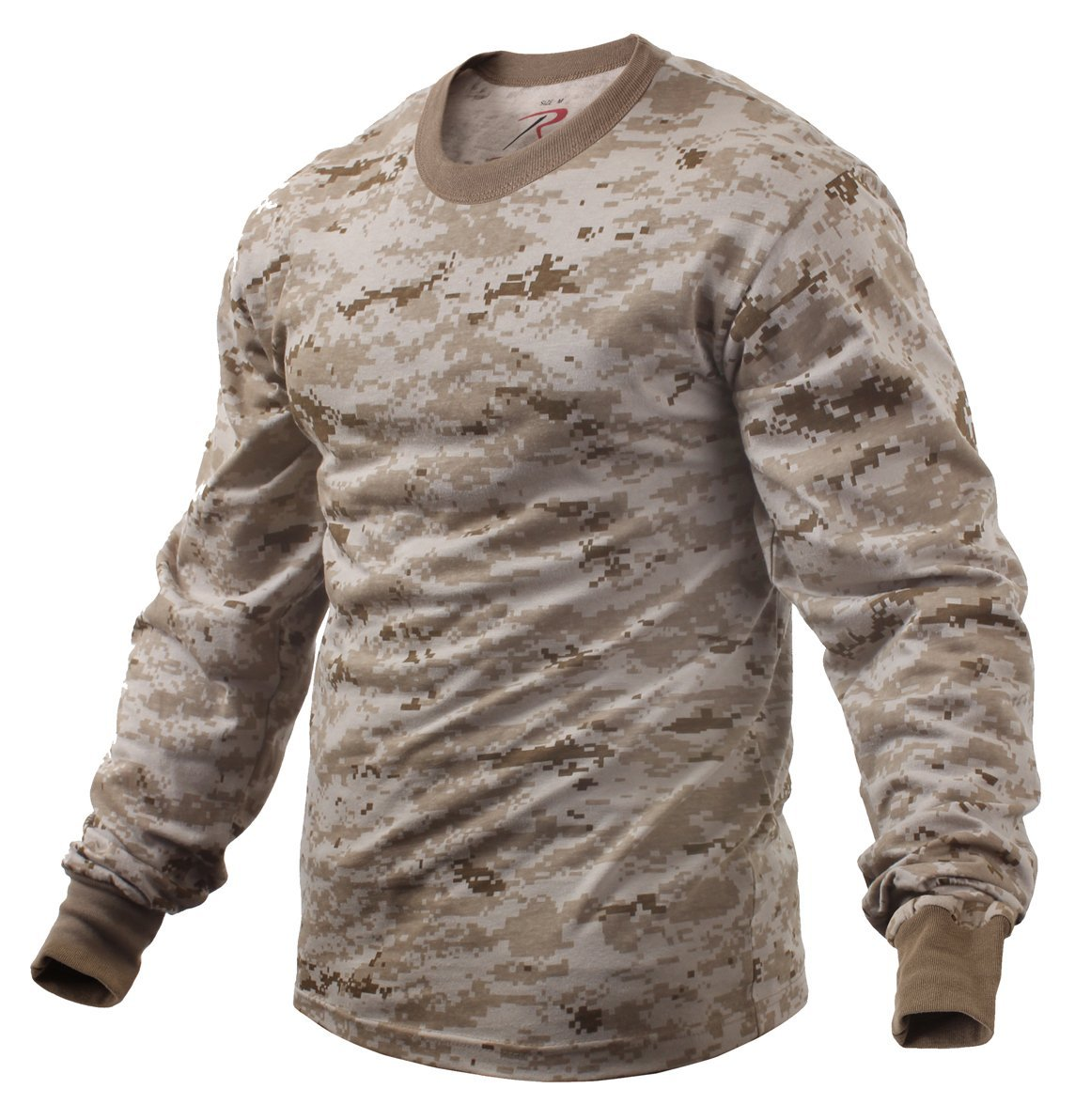 Rothco Long Sleeve Digital Camo T-Shirts - Desert Digital Camo, Large