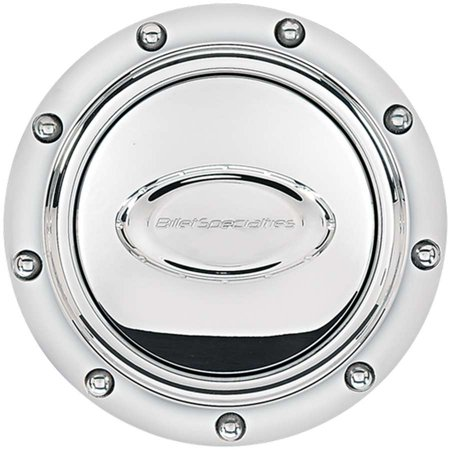 BILLET SPECIALTIES 32710 Horn Buttons Horn Button Riveted Polished Logo