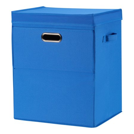 Mainstays Front Loading Stackable Large Laundry Hamper with Lid,