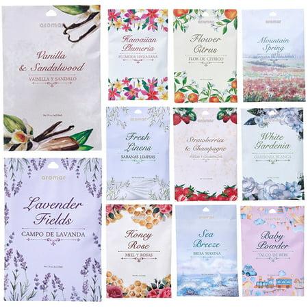6 Scented Fragrance Sachet Pouch Air Freshener Wardrobe Home Drawer Perfume Bag