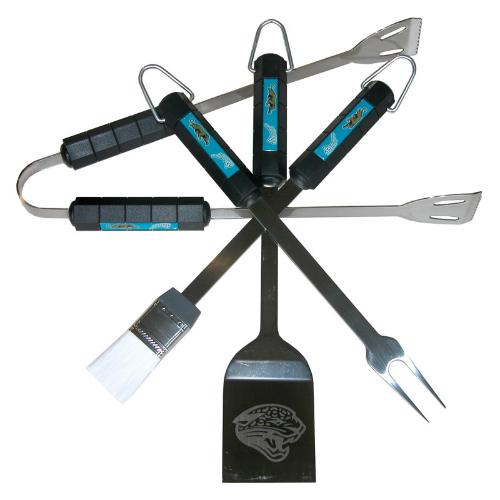 Siskiyou Sports Jacksonville Jaguars 4 Piece Bbq Set Barbeque Set