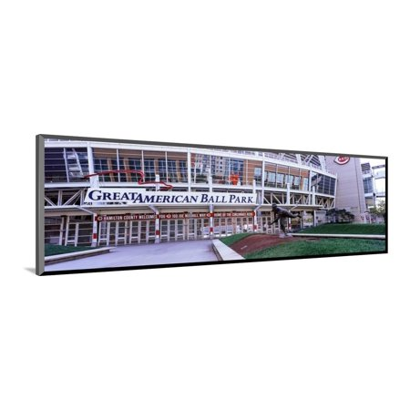 Baseball Stadium, Great American Ball Park, Cincinnati, Ohio, USA Wood Mounted Print Wall Art