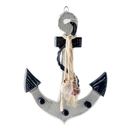 Glitzhome Nautical Wooden Anchor Wall Décor](Anchor Wall)