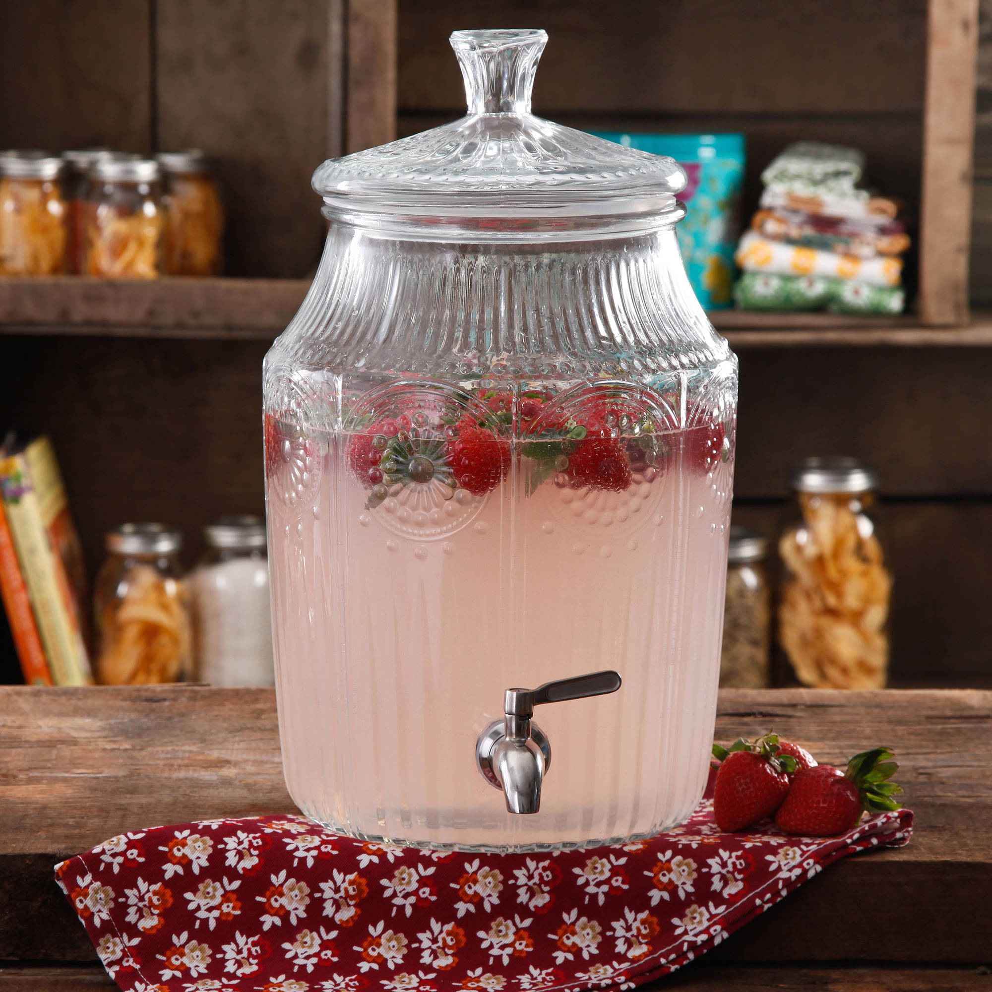 The Pioneer Woman Adeline 2.1-Gallon Glass Drink Dispenser