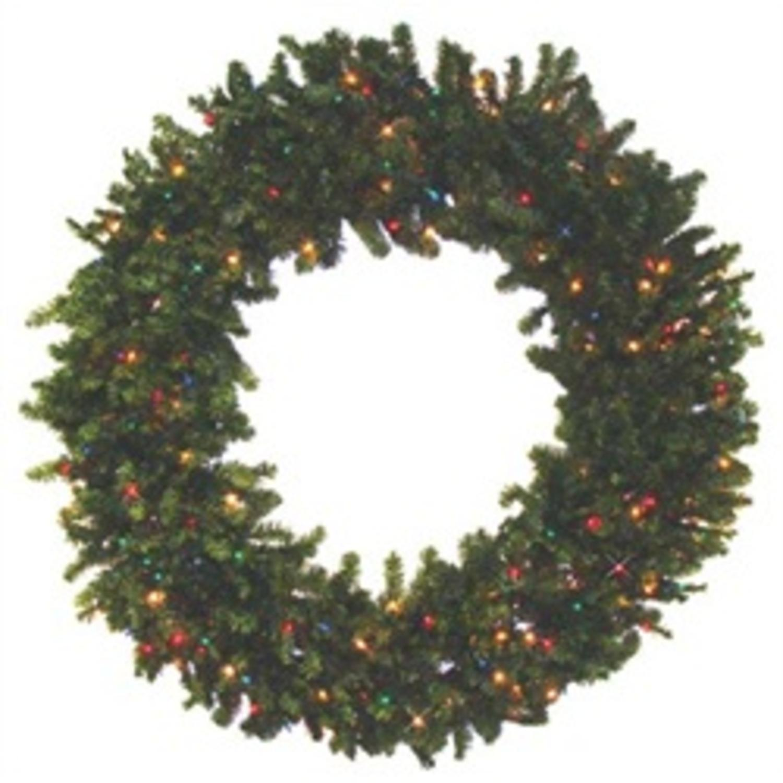 "96"" Pre-Lit Camdon Fir Artifical Wreath - Multi Color LED Lights"