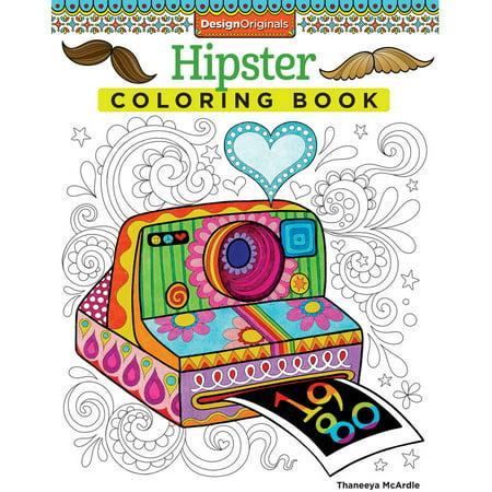 Design Originals, Hipster Adult Coloring Book - Walmart.com