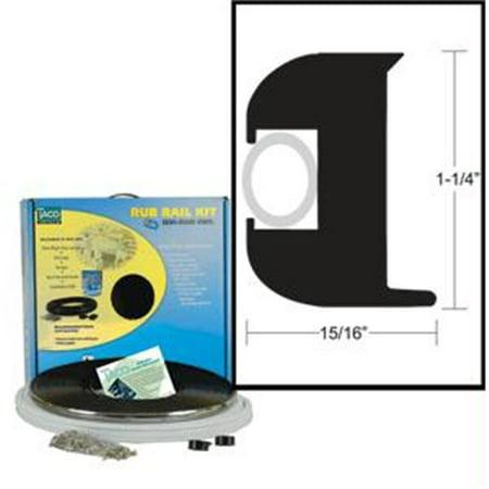 TACO METALS V11-3447BBK50-2 Flex Vinyl Rub Rail Kit - Black