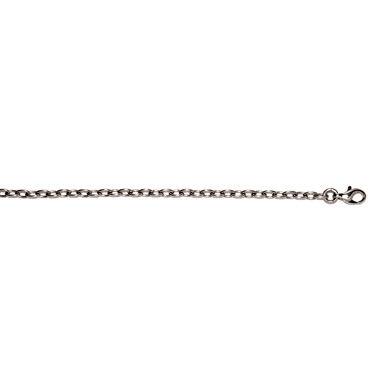 Platinum 2.8mm Open Cable Necklace Length: 16 to 30 by