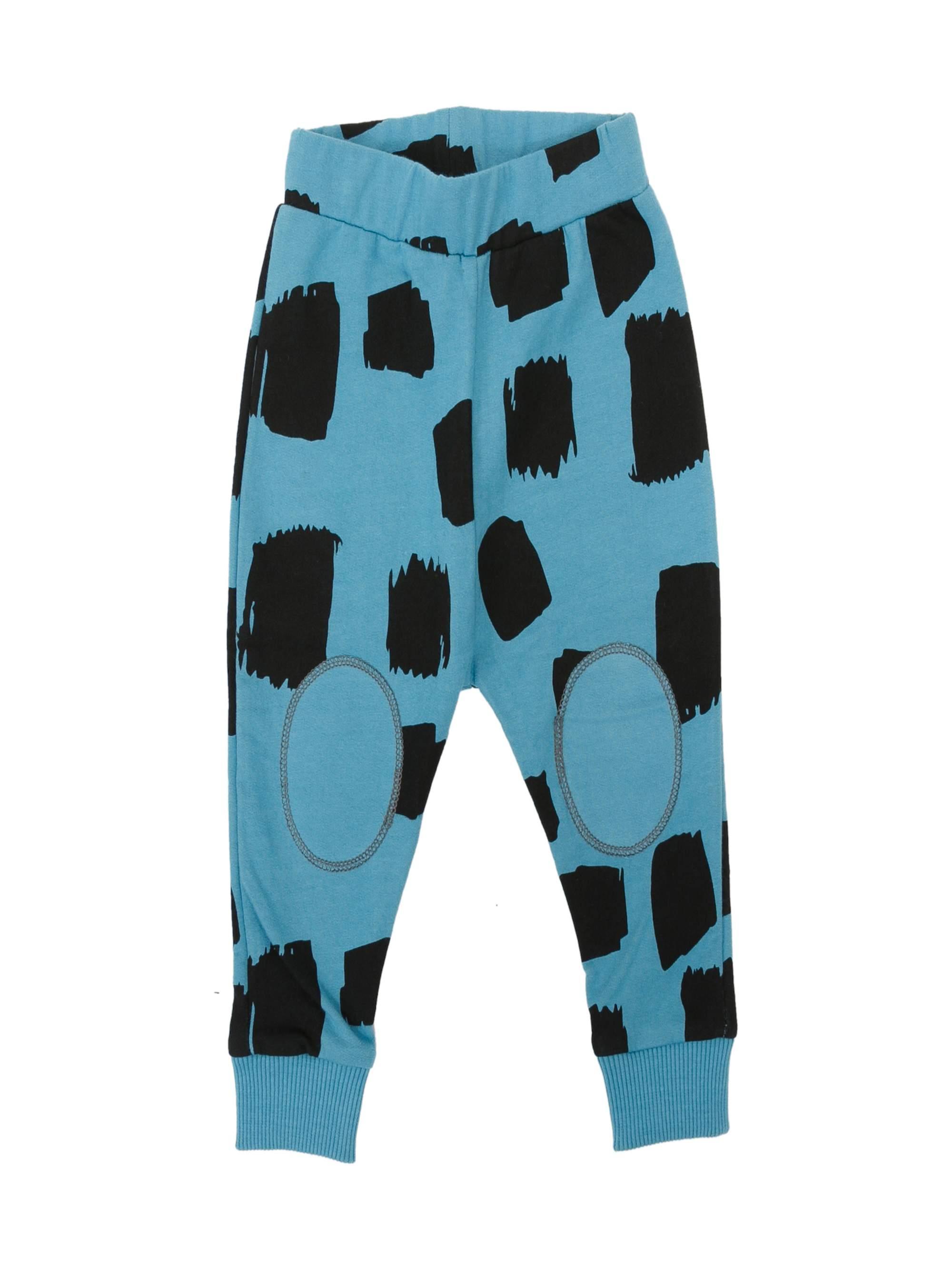 6 Sticks Baby Boy Square Print Knit Sweatpants
