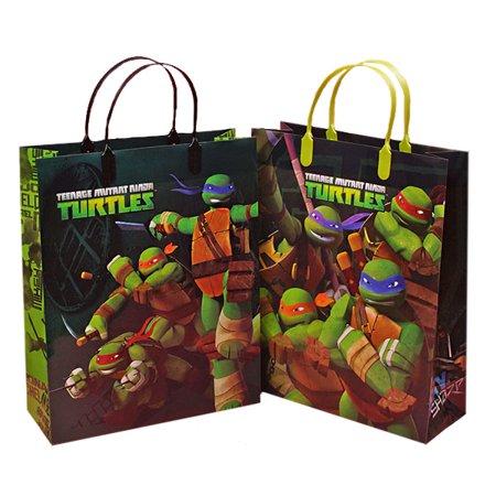 Ninja Turtle Gift Bags Kid Party Bags Plastic Kid Bags | Quantity: 12 | Width: 10 5/8