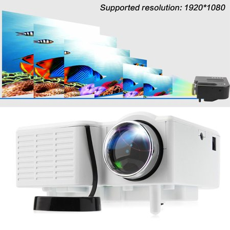 2017 New Wide Screen Projector  Multimedia Home Led Theater Mini Projector With Hdmi  Av  Vga Inputs Entertainment Projector