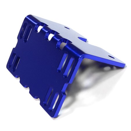 Integy RC Toy Model Hop-ups C26138BLUE Billet Machined Side ESC Mount Plate for Axial 1/10 SCX-10 Crawler
