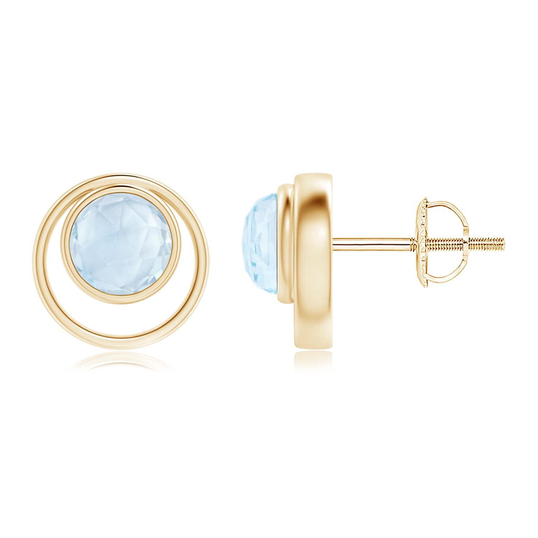Angara Bezel-Set Tanzanite Concentric Circle Stud Earrings 2kp0L1eoA