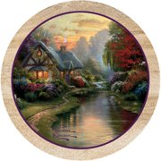 Thirstystone Drink Coasters, Peaceful Cottage Design, Set of 4