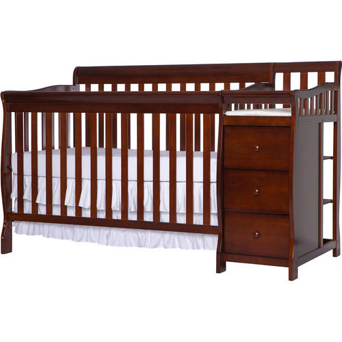 Dream On Me, 5-in-1 Brody Convertible Crib With Changer, Espresso