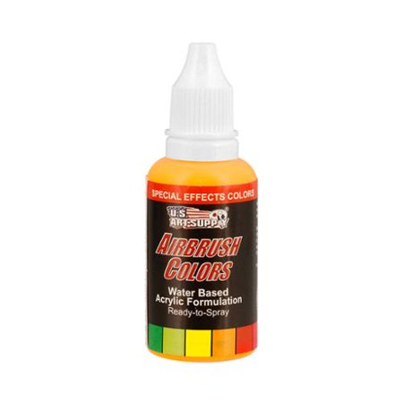 US Art Supply 1-Ounce Special Effects Neon Yellow Airbrush Paint ...