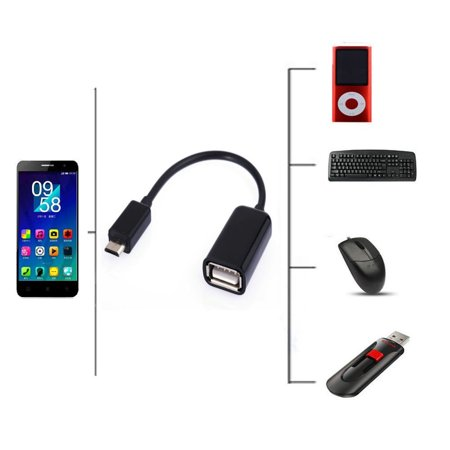 USB Host OTG Adapter Cable For Samsung Galaxy Tab 4 10.1 Nook SM-T530NU Tablet, 100% Brand new, high quality USB On-The-Go and Host.., By EPtech ()