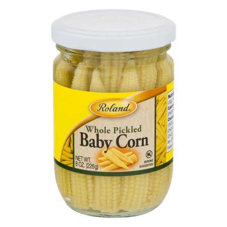 ((6 Pack) Roland Whole Pickled Baby Corn, 8 Oz)