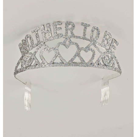 Mother to Be Princess Tiara Crown Party Princess Metal Silver Tiara (Metal Tiara)