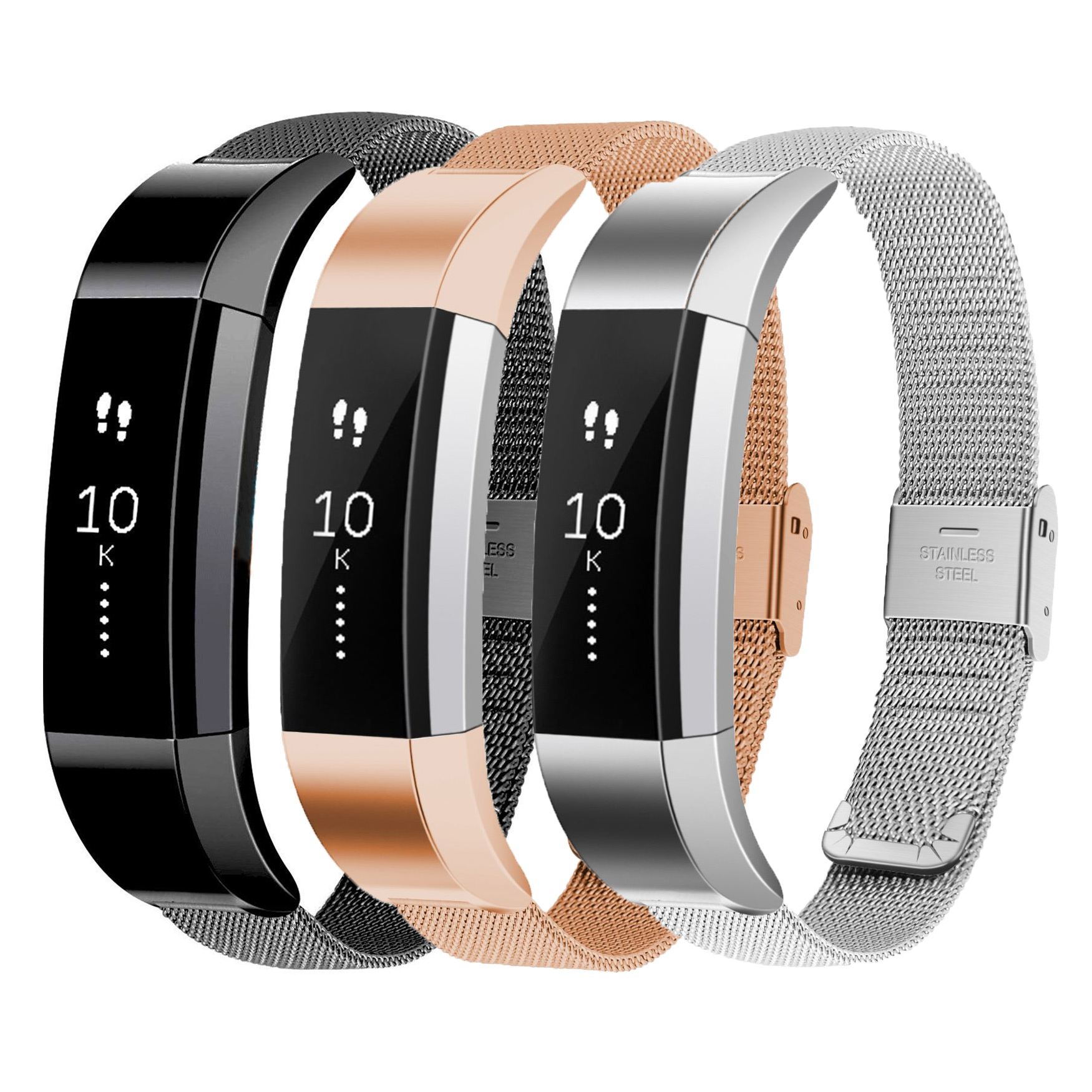 Stainless Steel Milanese Loop Bracelet Replacement Watch Band For Fitbit Alta Fitness Tracker